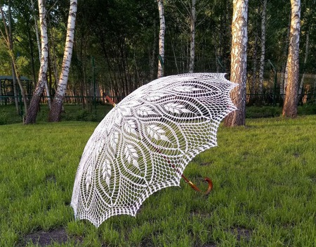 Ажурный зонтик-трость Авторская работа ручной работы на заказ