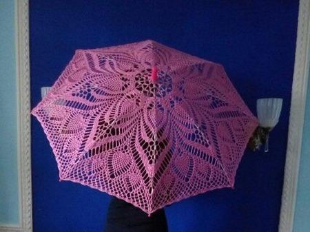 Ажурный зонтик ручной работы на заказ