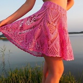 Ажурная юбка-солнце Авторская работа