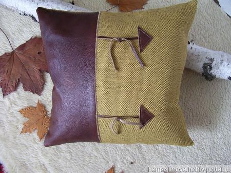 Подушка декоративная (чехол)Осенний блюз ручной работы на заказ