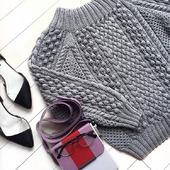Вязаный свитер оверсайз ручной вязки в Москве