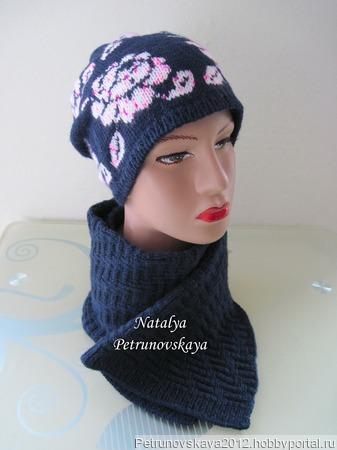 """Шапка и шарф """"Rosеs"""" ручной работы на заказ"""