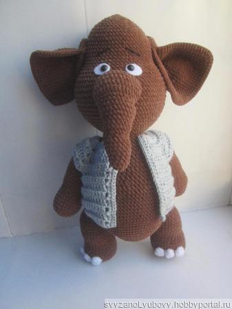 Игрушка Слон джентельмен ручной работы на заказ