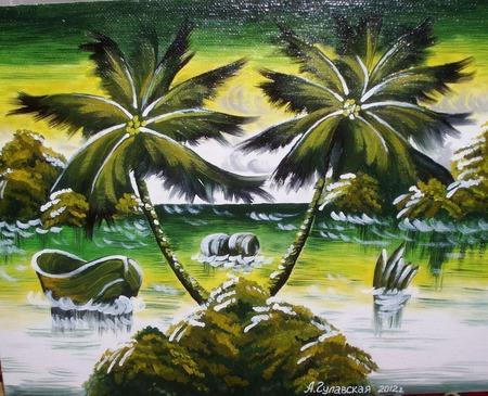 Пальмовый остров ручной работы на заказ