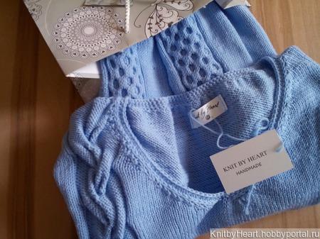 """Модный вязаный свитер """"SEA"""" ручной работы на заказ"""