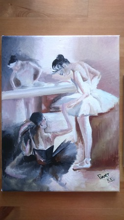 """Модульная картина маслом """"Балет"""" ручной работы на заказ"""