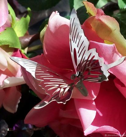 Бабочка хромированная ручной работы на заказ
