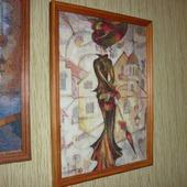 Вышивка крестом картина  Дама с зонтиком