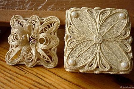 Шкатулка из джута ручной работы на заказ
