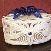 Шкатулка из джута Цветик- синецветик