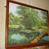 Вышивка крестом картина  Летний пейзаж