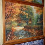 Вышивка крестом картина  Осенний пейзаж