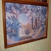 Вышивка крестом картина  Зимний пейзаж