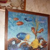 Вышивка крестом картина Морские обитатели