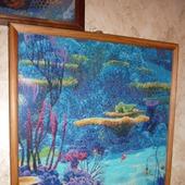 Вышивка крестом картина Морские глубины