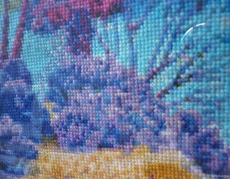 Вышивка крестом картина Морские глубины ручной работы на заказ