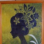 Вышивка крестом картина  Девушка - фантазия