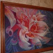Вышивка крестом картина Фантазийный цветок