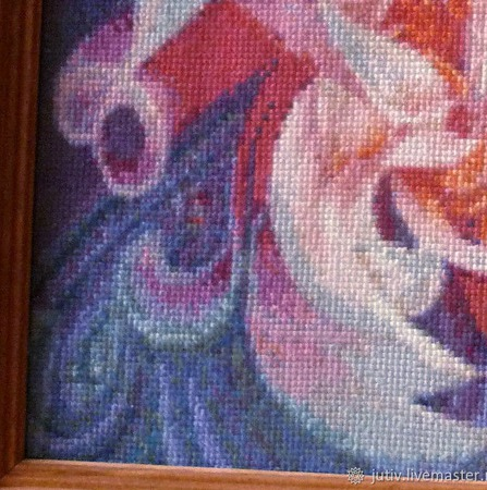 Вышивка крестом картина Фантазийный цветок ручной работы на заказ