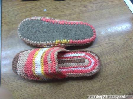 Домашние тапочки ручной работы на заказ