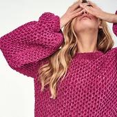 Вязаный плюшевый свитер ручной работы