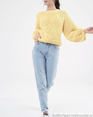 Вязаный плюшевый свитер ручной работы ручной работы на заказ