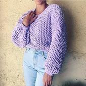 Вязаный плюшевый свитер ручной вязки