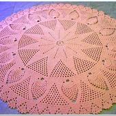 """Ковер круглый ручной работы вязаный из шнура """"Розовый Шик"""""""