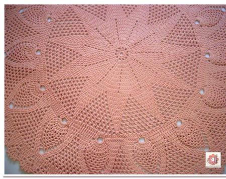 """Ковер круглый ручной работы вязаный из шнура """"Розовый Шик"""" ручной работы на заказ"""