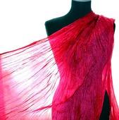 Шарф Ярко розовый маджента, палантин ярко красный с розовым