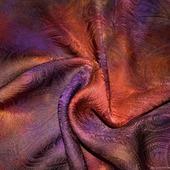 Платок шелковый жаккард пейсли красно коричневый  оранжевый  фиолет