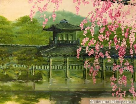 Японский пейзаж ручной работы на заказ