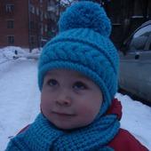 Комплект Косичка (шапочка+шарф