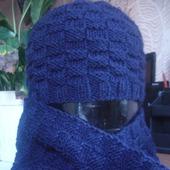 Комплект Шахматы (шапка+шарф)