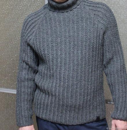 """Мужской свитер """"Егерь"""" ручной работы на заказ"""