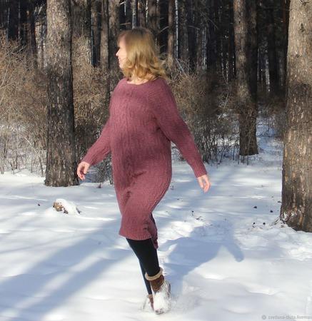 Вязаное платье оверсайз ручной работы на заказ