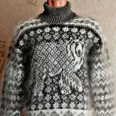 Скандинавский свитер Белый медведь.