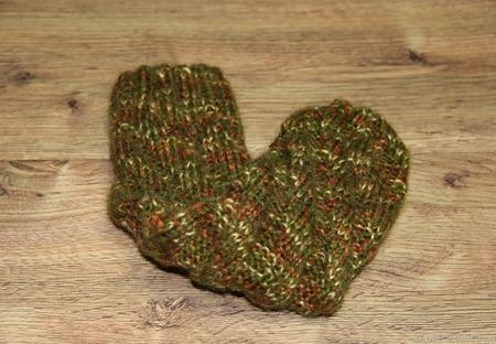 """Теплые носочки """"Зеленый мох"""" ручной работы на заказ"""