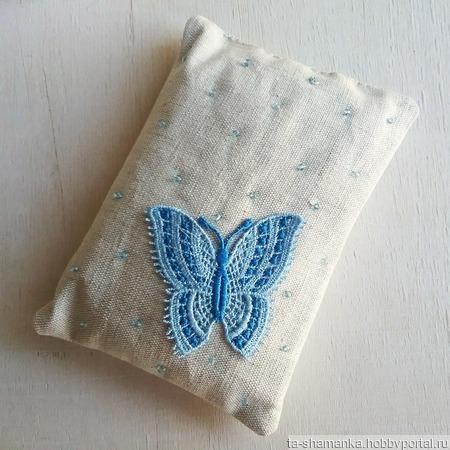 """Саше с лавандой """"Сладкий сон"""" подушечка сонная бабочка ручной работы на заказ"""
