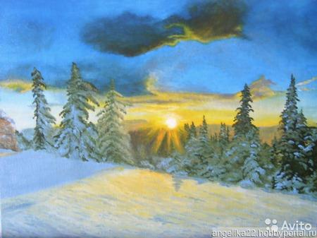 "Картина ""Зимушка зима"" ручной работы на заказ"