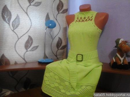 Платье *ЛАЙМ* ручной работы на заказ