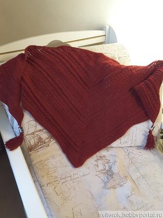 Шапка и шаль (бактус) набор ручной работы на заказ