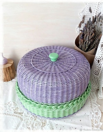 Хлебница плетеная ручной работы на заказ