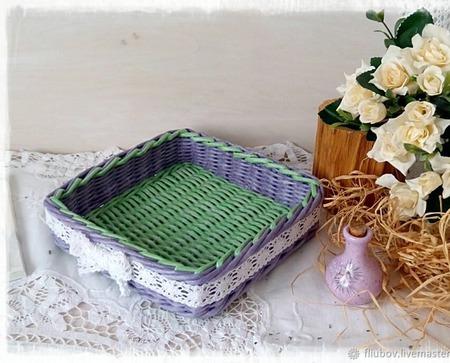 Короб плетеный ручной работы на заказ