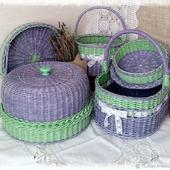 Набор плетеных корзин