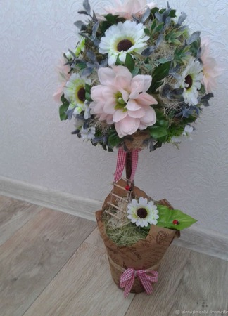 Топиарий - дерево счастья и любви ручной работы на заказ