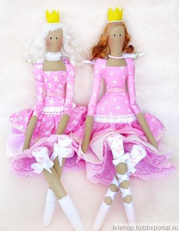 Тильда принцесса в розовом. ручной работы на заказ