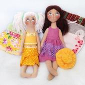 """Текстильные игровые куклы """"Сестрички"""".  Кукла со сменным гардеробом."""