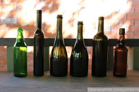 Стеклянная бутылка ваза для декорирования 22 вида ручной работы на заказ