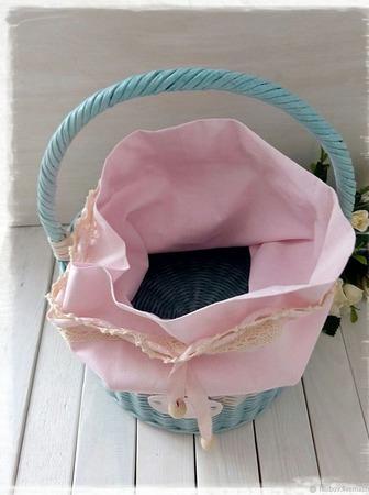 Корзина плетеная круглая ручной работы на заказ